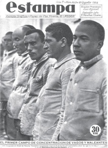 In Franco's Spaih homosexuals were imprisoned in large numbers, sent to concentration camps and 'medical centers'.   Source: http://www.lamarea.com/2013/11/24/campos-de-concentracion-para-vagos-y-maleantes-en-espana/
